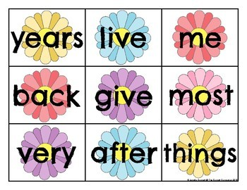 Fry 101-200 Sight Word Cards Spring