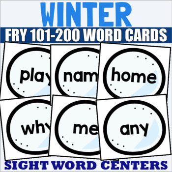 Fry 101-200 Sight Word Cards Winter