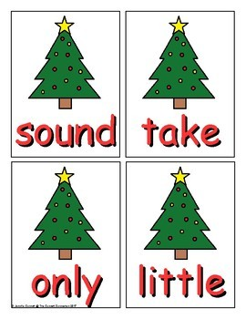 Fry 101-200 Sight Word Game Christmas Edition