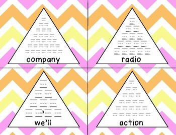 Fry 10th 100 Pyramid Writing Practice