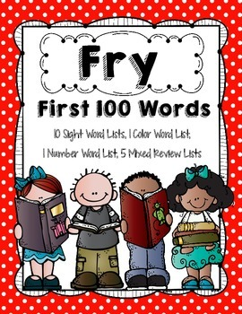 Fry 1st 100-300 Words
