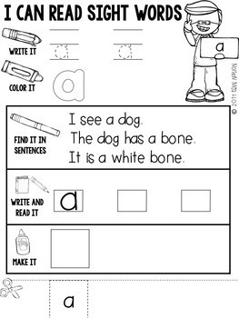 Fry 1st 100 Sight Word Practice Sheets