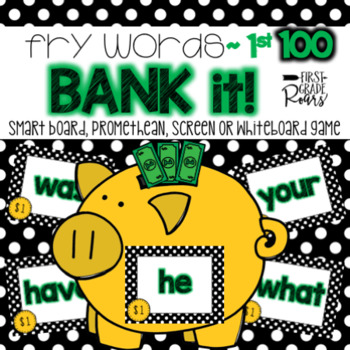 Fry 1st 100 Words Bank It! Projectable Game