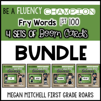 Fry 1st 100 Words BUNDLE of 4 sets  BOOM CARDS
