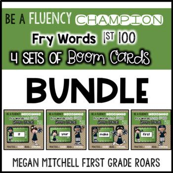 Fry 1st 100 Words BUNDLE of 4 sets  BOOM CARDS