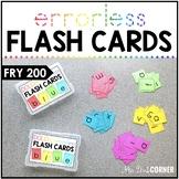 Fry 200 Errorless Flash Cards | Spelling Task Box for Fry