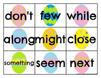 Fry 201-300 Sight Word Cards Easter