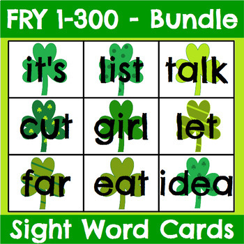 Fry 1-300 Sight Word Cards Saint Patrick's Day