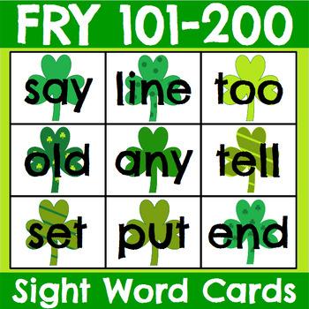 Fry 1-300 Sight Word Cards Saint Patrick's Day Bundle
