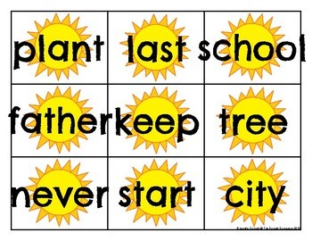 Fry 201-300 Sight Word Cards Summer
