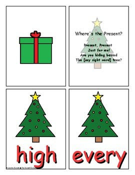 Fry 201-300 Sight Word Game Christmas Edition