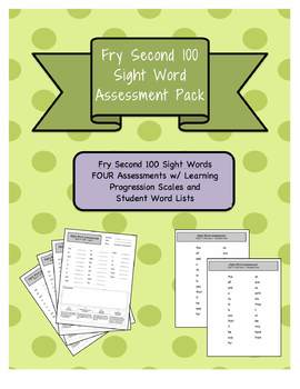 Fry 2nd 100 Sight Word Assessment Pack w/ Student Lists