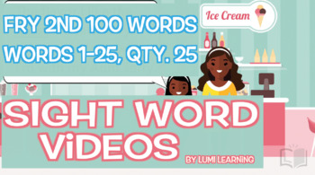 Fry 2nd 100, Sight Word Videos #1-25: Teach Spelling, Meaning, Usage, & More