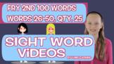 Fry 2nd 100, Sight Word Videos #26-50: Teach Spelling, Mea