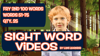 Fry 2nd 100, Sight Word Videos #51-75: Teach Spelling, Meaning, Usage, & More