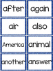 Fry 2nd 100 Sight Words #101-200 - Word Wall Cards - BLUE Glitter