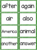Fry 2nd 100 Sight Words #101-200 - Word Wall Cards - GREEN Glitter
