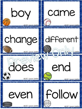 Fry 2nd 100 Sight Words #101-200 - Sports Theme