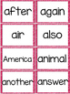 Fry 2nd 100 Sight Words #101-200 - Word Wall Cards - PINK Glitter