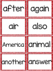 Fry 2nd 100 Sight Words #101-200 - Word Wall Cards - RED Glitter