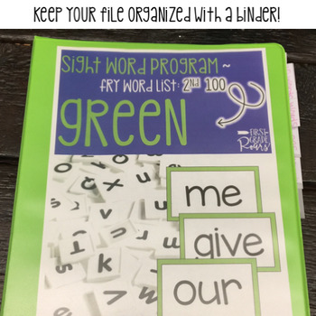 Fry Sight Word Program: 2nd 100 - Lists, Assessments, & Word Cards