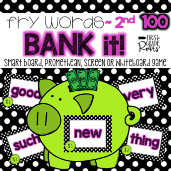 Fry 2nd 100 Words Bank It! Projectable Game