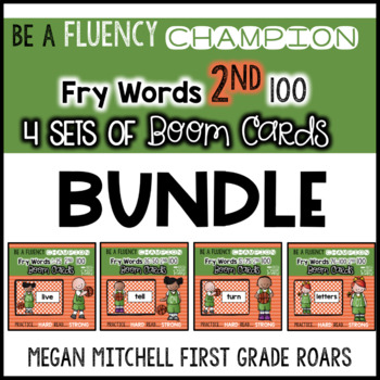 Fry 2nd 100 Words Set of 4 BUNDLE BOOM CARDS