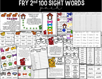 Sight Word Pack: Fry 2nd 100 Words