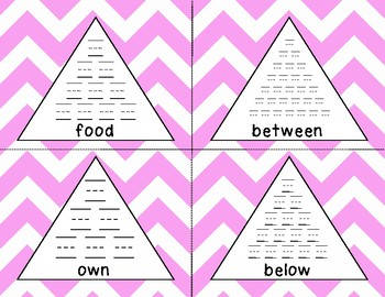 Fry 3rd 100 Pyramid Writing Practice