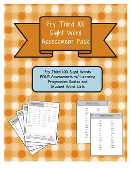 Fry 3rd 100 Sight Word Assessment Pack w/ Student Lists