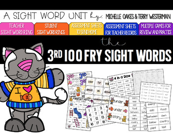 Fry 3rd 100 Words Sight Word Pack