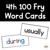 Fry 4th 100 Sight Word Cards