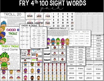 Fry 4th 100 Words Sight Word Pack