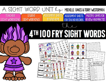 Sight Word Pack: Fry 4th 100 Words