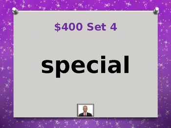 Fry 5th 100 Sight Words Jeopardy Power Point #1