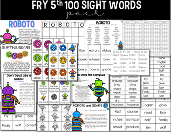 Fry 5th 100 Words Sight Word Pack