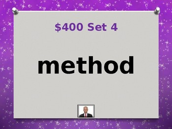 Fry 7th 100 Sight Words Jeopardy Power Point #1