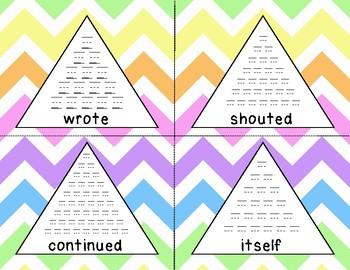 Fry 8th 100 Pyramid Writing Practice **FREEBIE**