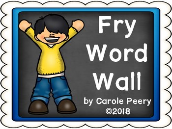 Fry Chalkboard Word Wall First 200 Editable