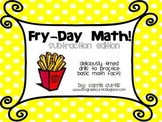 Fry Day Math: Timed Subtraction Drills for Fact Fluency