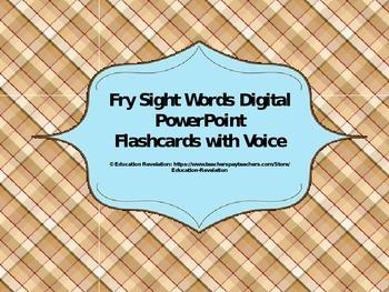 Fry Digital Sight Word PowerPoint Flashcards (Fry Words 50