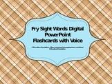 Fry Digital Sight Word PowerPoint Flashcards (Fry Words 70
