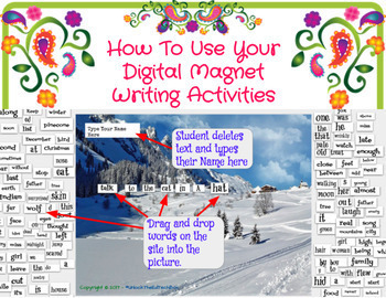 17 Fry Digital and Printable Winter Magnet Writing Boards - 100 Fry Words