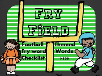 Fry Field - Football Themed Fry Word Checklist