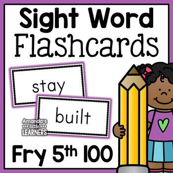 Fry Fifth Hundred Sight Word Flash Cards