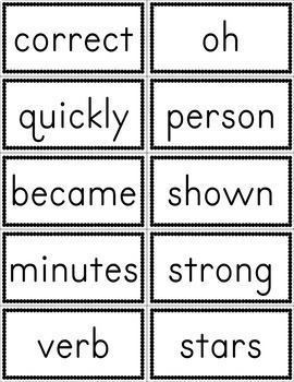 Fry Fifth Hundred Sight Word Flashcards