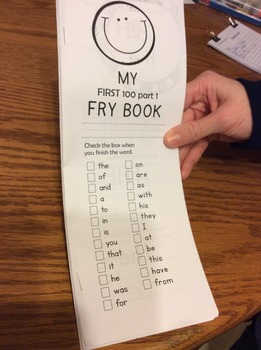 Sight Word Fluency Practice Fry Words 1-100 Booklet