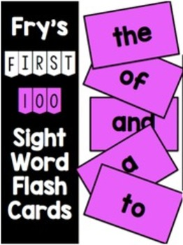 Fry First 100 Flash Cards & Data Sheets