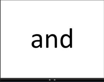 Fry Words to Build Fluency First 100 Flashcard PowerPoint