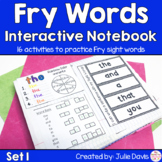 Fry First 100 Set 1 Sight Word Interactive Notebooks Activities